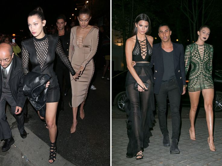 Bella Hadid Bares All in Sheer Dress at Balmain After-Party in Paris