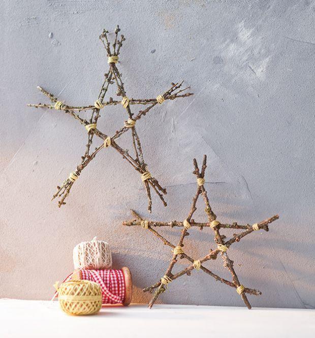 Basteln mit sten weihnachten dansenfeesten - Mit asten dekorieren ...