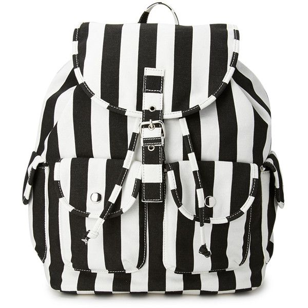 Forever 21 Cool Girl Striped Backpack (335 MXN) ❤ liked on Polyvore featuring bags, backpacks, accessories, purses, bolsas, draw string backpack, lightweight daypack, forever 21 bags, light weight backpack and backpack bags