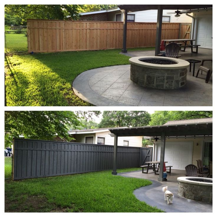 Board on board fence with trim with Olympic Max solid ...