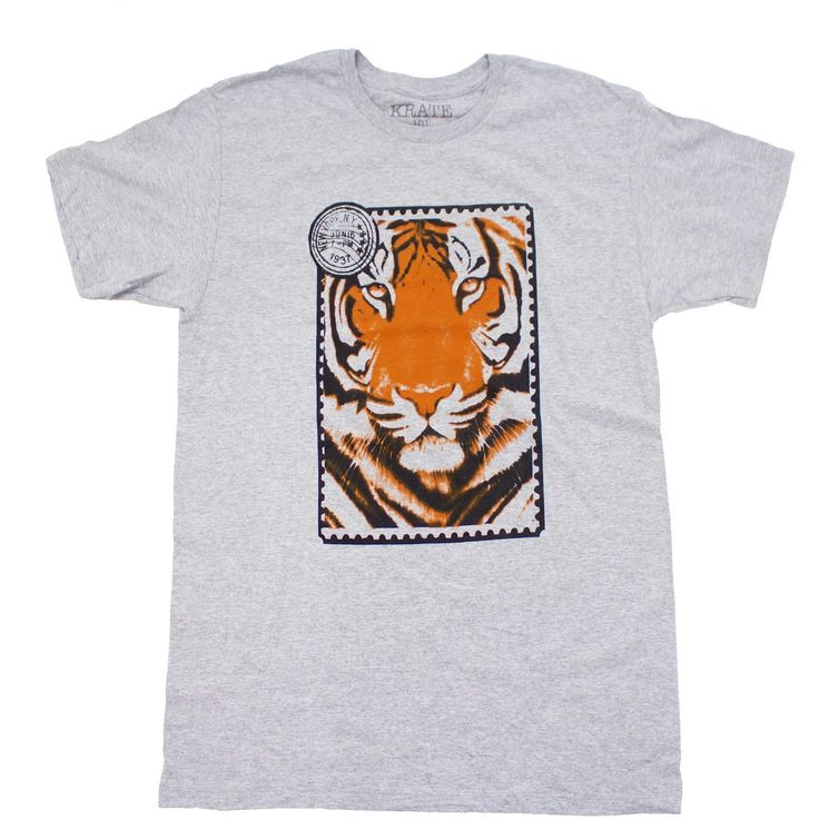 TIGER STAMP, men graphic t-shirts