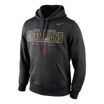 Nike Alabama Crimson Tide Black College Football Playoff National Champions  Locker Room Pullover Hoodie #alabama
