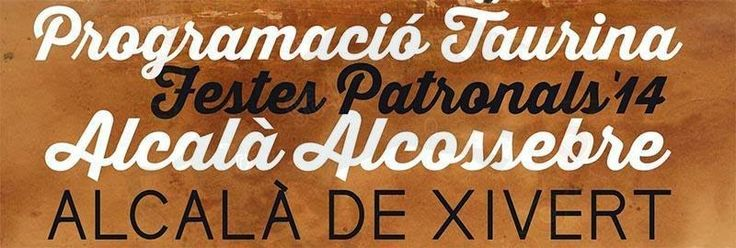 torodigital: Cartel taurino fiestas Alcalá de xivert