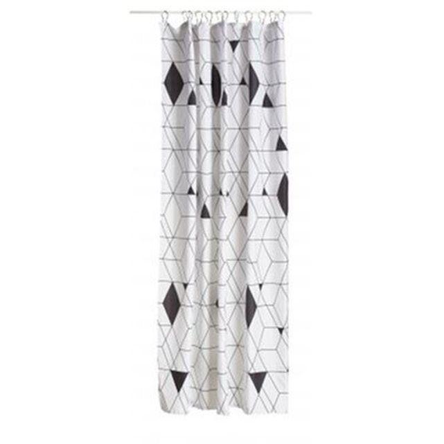 Ce rideau de douche noir et blancest design, fonctionnel et fabuleux. Un rideau de douche arlequin aux motifs graphiques enpolyester. Un rideau de douche original,tendance et élégant pour décorer et illuminer votre salle de bain. Dimensions: Long. 200 cm x Larg. 180 cm Couleur: Noir et Blanc Matière: Polyester