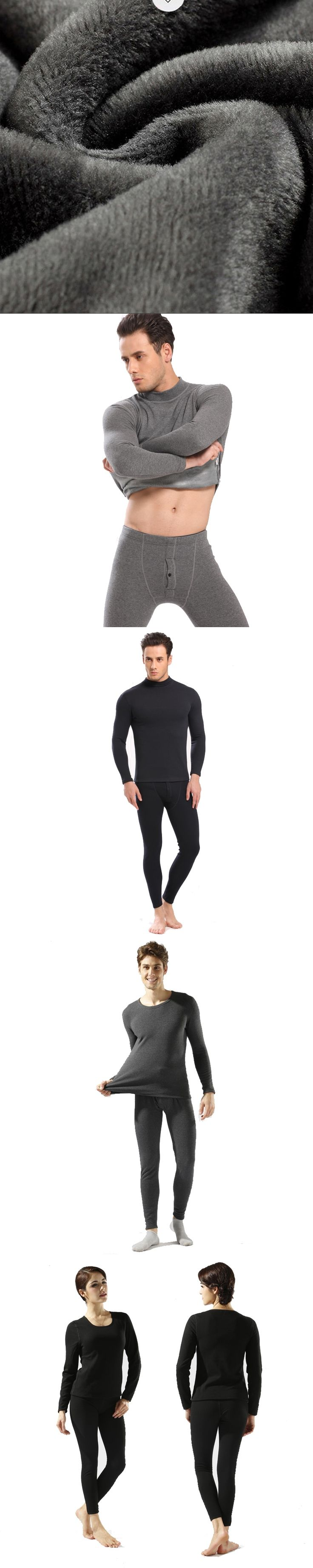 2017men and women winter thermal underwear for   Men and women indoors wearing base layer rash guard M-XXXL