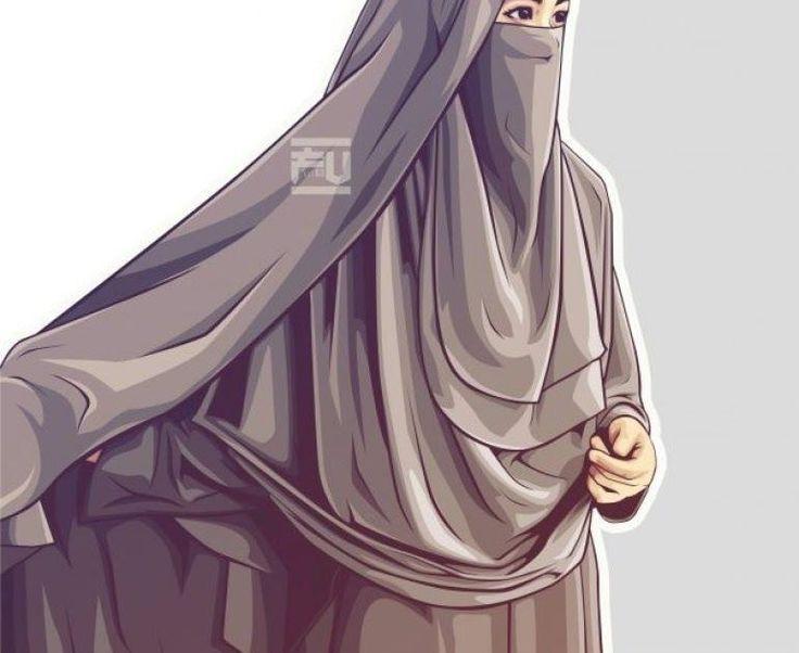 Bercadar Gambar Kartun Muslimah Couple Romantis di 2020 ...