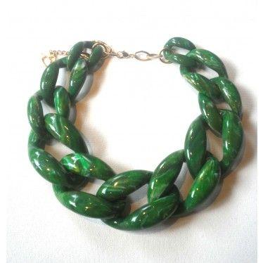 NATE Chain Necklace Emerald