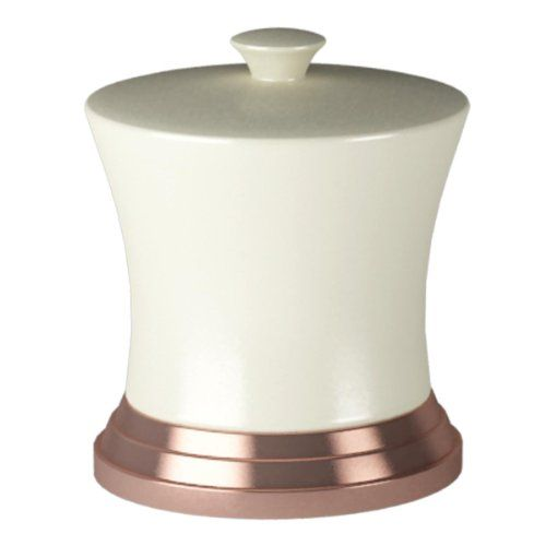 nu steel Cotton Swab/Container, Ivory Ceramic/Oil Rubbed Bronze Trim  //Price: $ & FREE Shipping //     #Bathroom