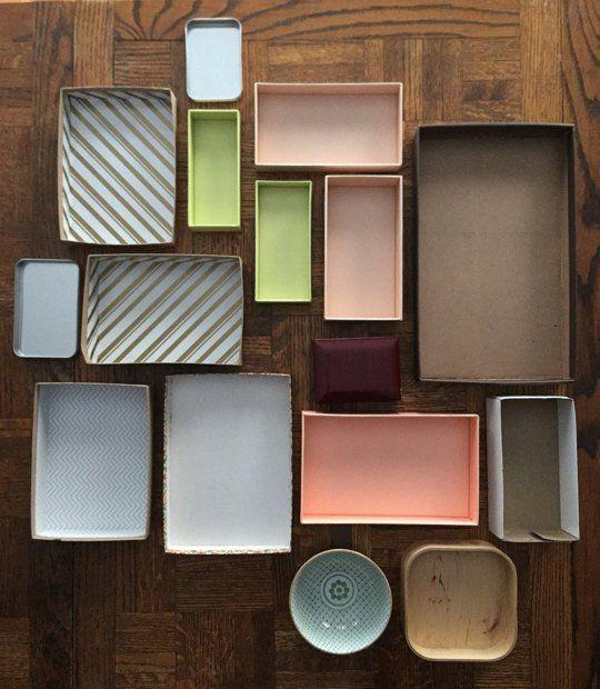 Don't feel like spending money on drawer organizers? Make your own!