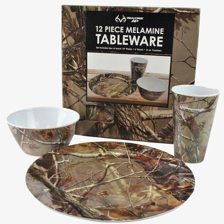 Realtree 12 Piece Melamine Tableware Set