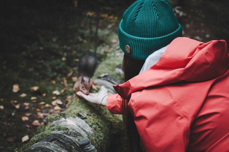 Hiking in a VAI-KØ Merino Wool Beanie. Staying Evergreen.