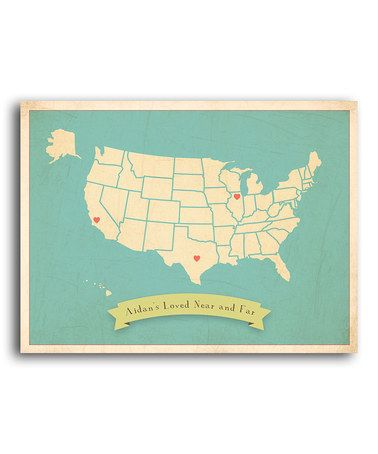 Another great find on #zulily! Family Roots USA Map Print by Leo Leo by Children Inspire Design #zulilyfinds
