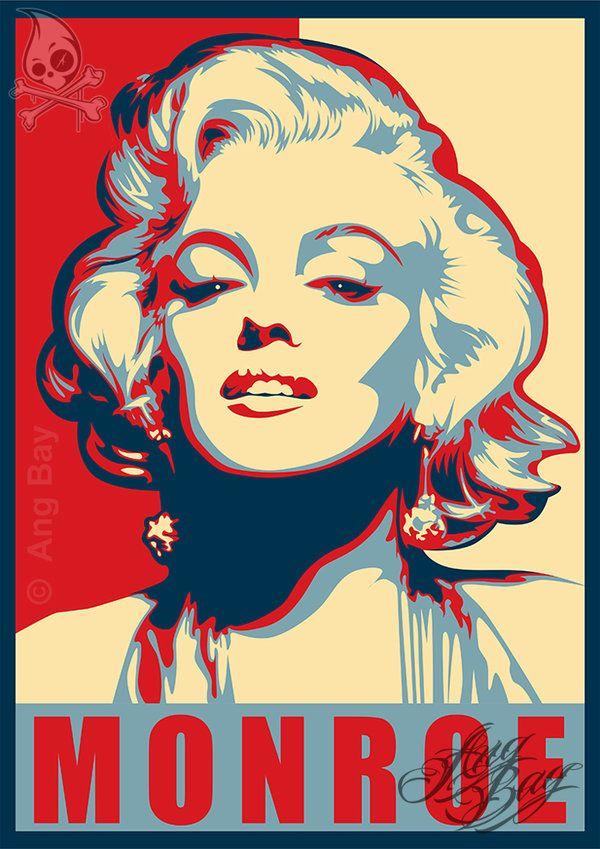 Marilyn Monroe by ANG-BAY  | This image first pinned to Marilyn Monroe Art board, here: http://pinterest.com/fairbanksgrafix/marilyn-monroe-art/ || #Art #MarilynMonroe