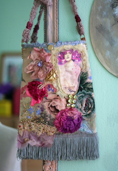 romantic purse embroidered and beaded crossbody от FleursBoheme