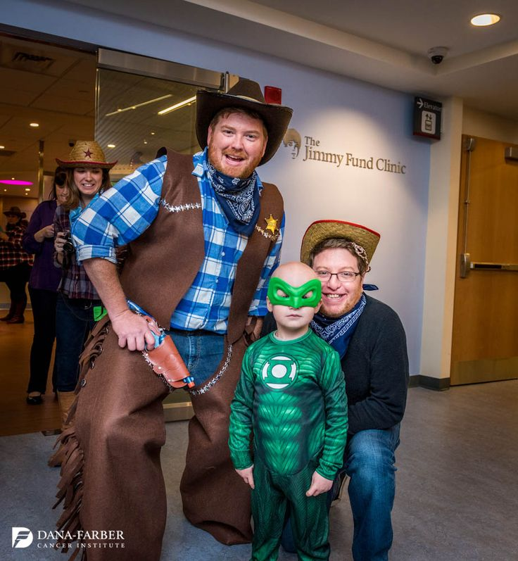 Dana-Farber was filled with superheroes, princesses and cowboys today as Jimmy Fund Clinic patients and family members spent time trick-or-treating around the Institute. #Halloween