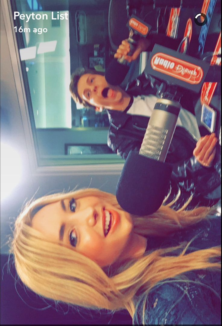 Peyton list & Jacob Bertrand at radio Disney for their new movie: the swap