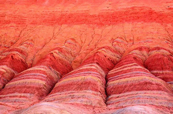 Landscape Denksiya - colored mountains of China 17 Pics