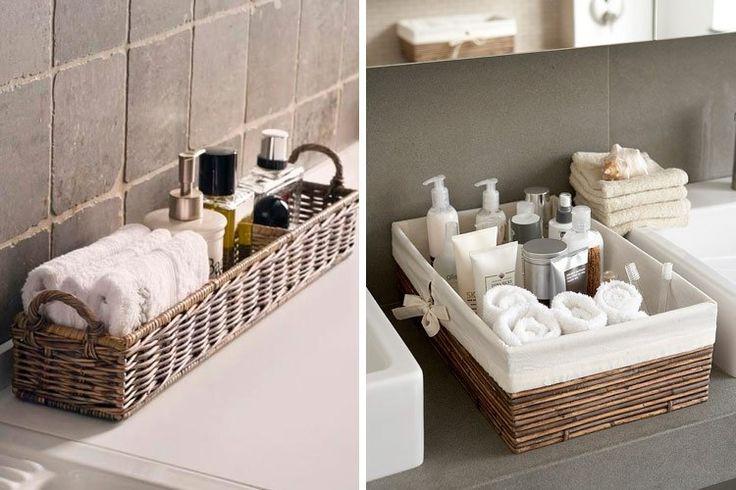 Прекрасное утро ☀ еще одного выходного дня начнем с рекомендации приятных мелочей для ванной комнаты: уютные плетеные корзины  Очень красиво и стильно! #санузел #сантехника