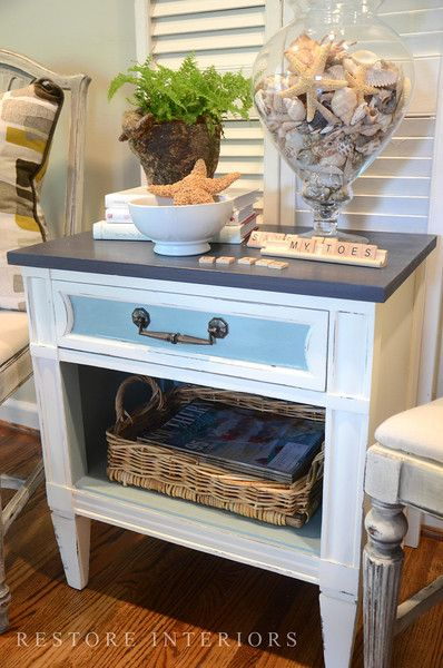 LOVE! Must get a night stand to redo..  just not in blue.our night stands redo them