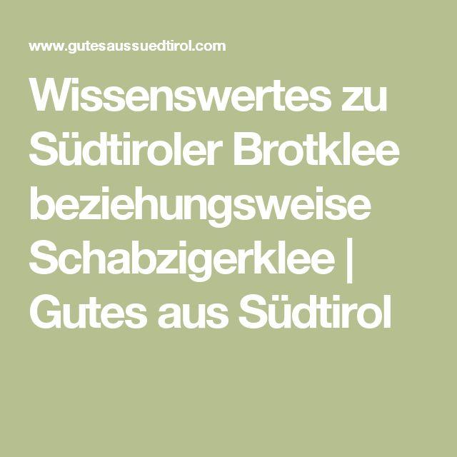 Wissenswertes zu Südtiroler Brotklee beziehungsweise Schabzigerklee | Gutes aus Südtirol