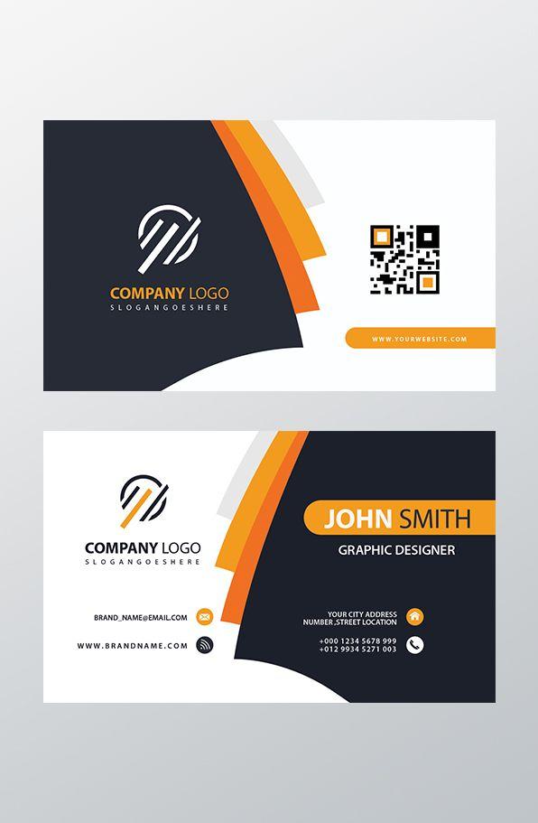 Orange Elegant Corporate Business Card Psd Business Cards Mockup