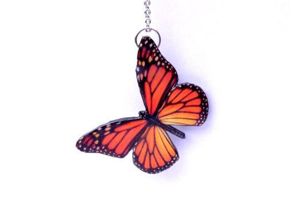Farfalla Monarca farfalla collana-colorato di JewelryByIeva