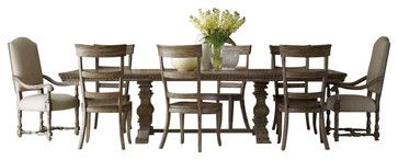 Hooker Furniture Sorella 9 Piece Rectangular Dining Table Set in Brown - transitional - Dining Sets - Cymax