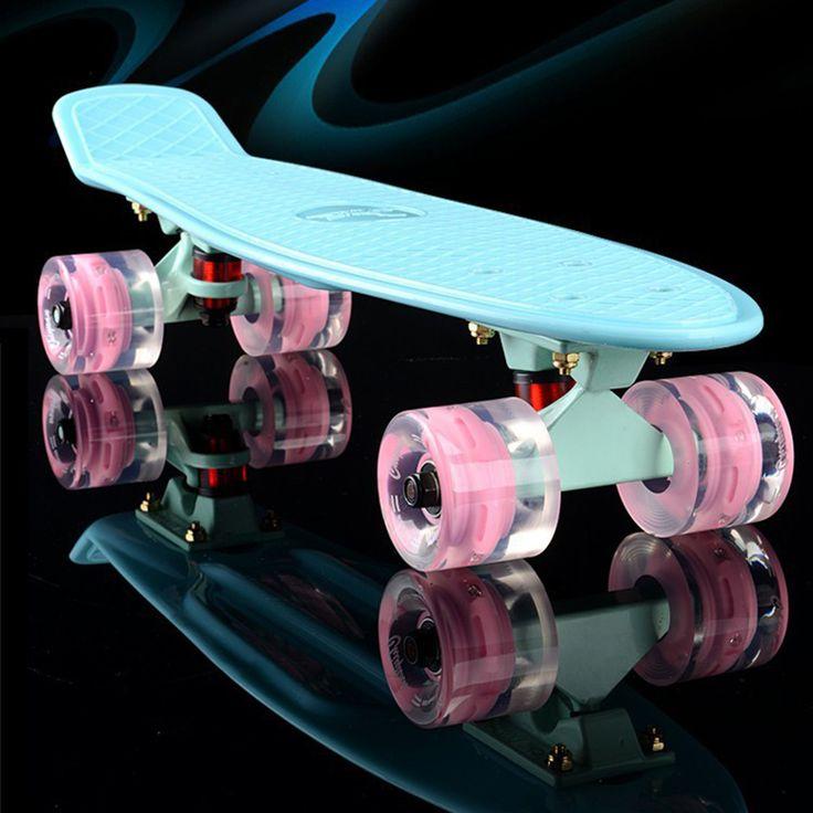 Nuevo Plástico mini cruiser skateboard pequeño solo plátano longboard skate hijos adultos se deforme tablero del patín del camino