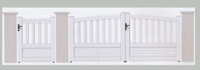 Portail PVC bombé blanc : vente de portails loir et cher 41, indre 36, cher 18