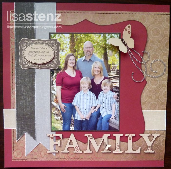 Family, Non Christmas layout using Pear and Partridge