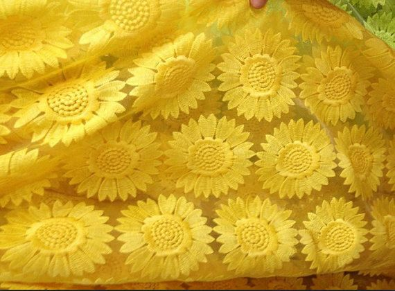 High Quality Fluorescent Yellow Sunflower Pattern by lacediy