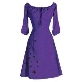 Ecouture by Lund -  Starlet- kjole i økologisk, håndprintet bomuld