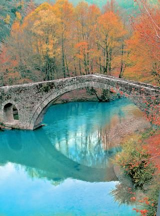 Autumn in Greece - Kamber Aga bridge, Zagoria, Epirus, Greece