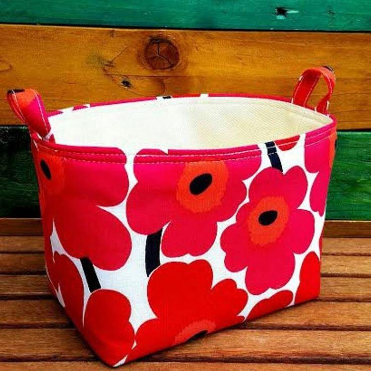 https://www.etsy.com/uk/listing/387390988/scandinavian-fabric-basket-red-deep-pink #vegan#veggie#veggies#minimalist#organic#natural#marimekko #unikko#storage#organiser#bag#basket#pot#planter#bucket#bin#waste#office#desk#box#beauty#spa#bath#kids