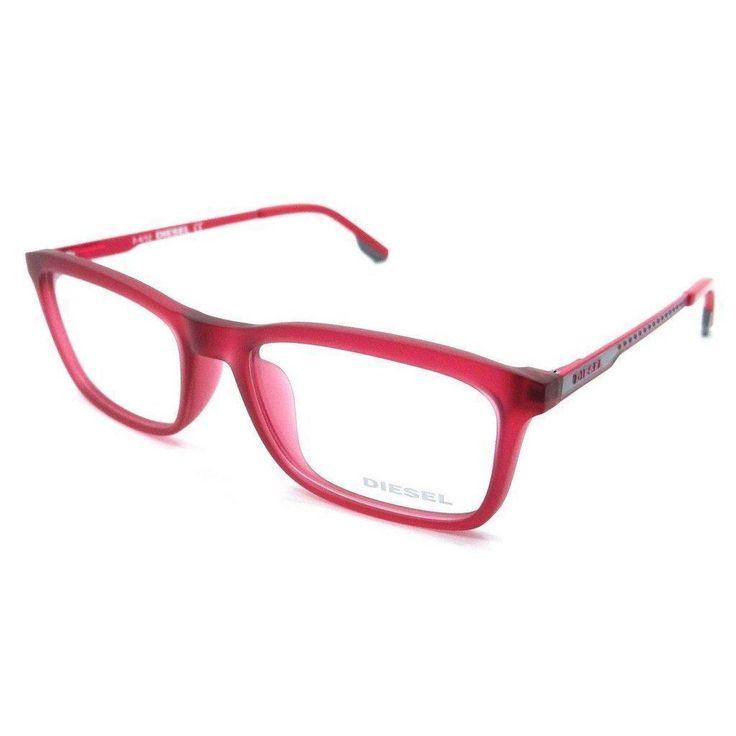 a73937462c94 Diesel Rx Eyeglasses Frames DL4048 076 53-17-140 Matte Red   Pink Grey