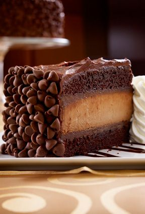 bliss on a plate....Hershey's chocolate Bar Cheesecake at The Cheesecake Factory