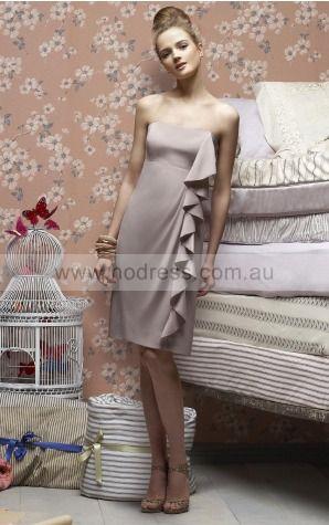 Sheath Sleeveless Strapless Zipper Knee-length Evening Dresses evfa307356--Hodress
