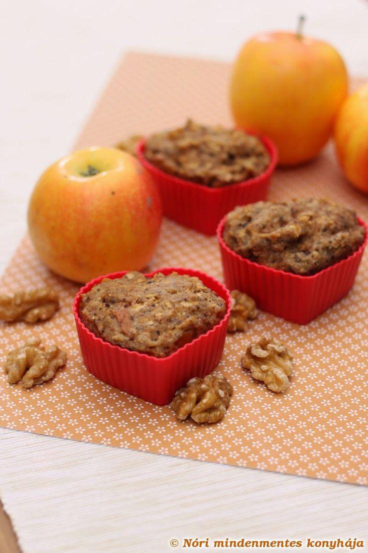 Nóri mindenmentes konyhája: Almás-diós muffinok (#gluténmentes, #vegán, #lowcarb recept)