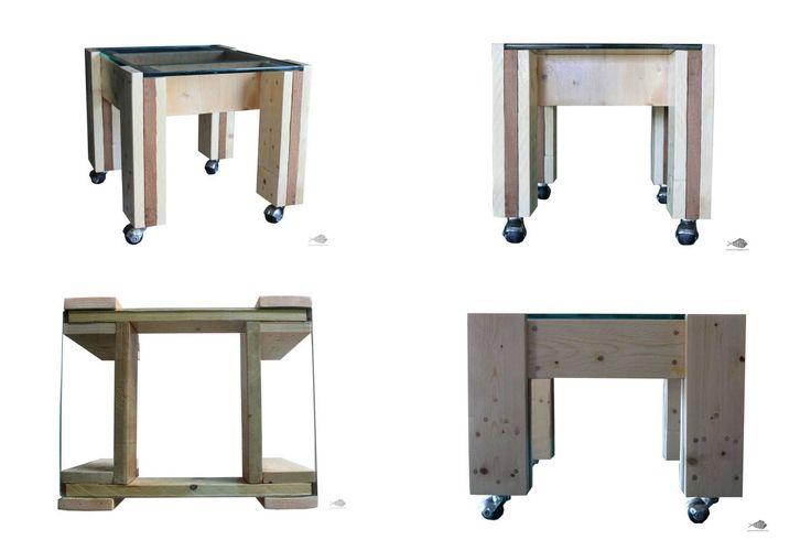 Spider, tavolino in legno di pallet e vetro riciclato. #tavolo #table #pallet #riciclo #recycled #vetro #glass #riciclostile @riciclostile