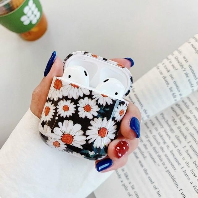 Flowers Earphone Case For AirPods 2 Pro Cases Cute Colorful Vintage Hard PC Smooth Protective Cover for AirPod 2 3 Air Pods Case