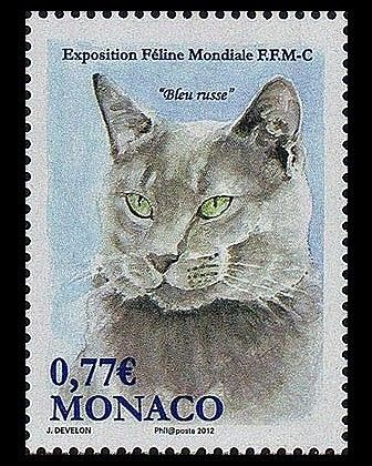 Exposition Feline Mondiale Monaco postal stamp