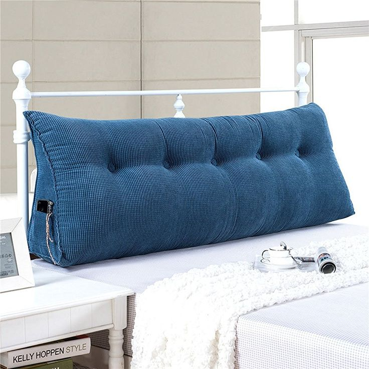 Amazon.com: Vercart Sofa Bed Large Filled Triangular Wedge Cushion Bed Backrest Positioning Support Pillow Reading Pillow Office Lumbar Pad with Removable Cover Jean Blue: Home & Kitchen