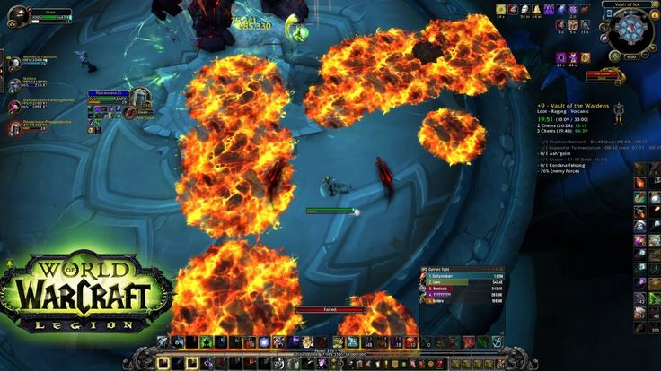 World Of Warcraft - Vault of the Wardens +9 Mythic Keystone 2 chests (il...