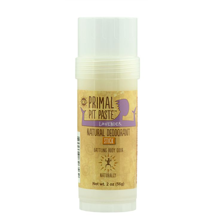 Primal Pit Stick, Regular - Lavender. Finally, an all-natural aluminum-free deodorant that actually works.