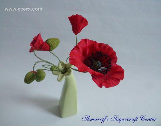 49 best gumpaste fondant poppies images on pinterest fondant elegant gumpaste poppy bouquet by petya shmarova mightylinksfo