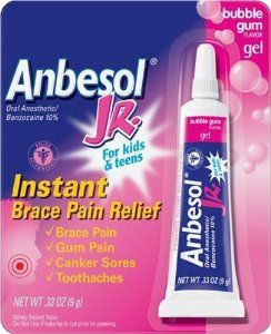 Anbesol JR. Oral Anesthetic Gel, instant relief from the occasional soreness and pain that can accompany the use of dental braces.