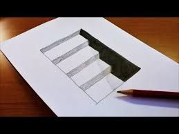 Image result for 3D image stairs, pencil drawing