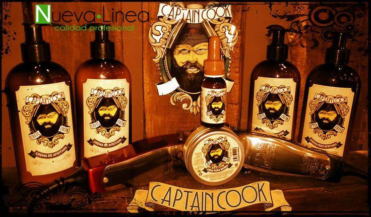 Novedades en Nueva Linea, ha desembarcado el Captain Cook con todos sus productos. Así es un placer dejarse barba... ¡Barberízate! :)