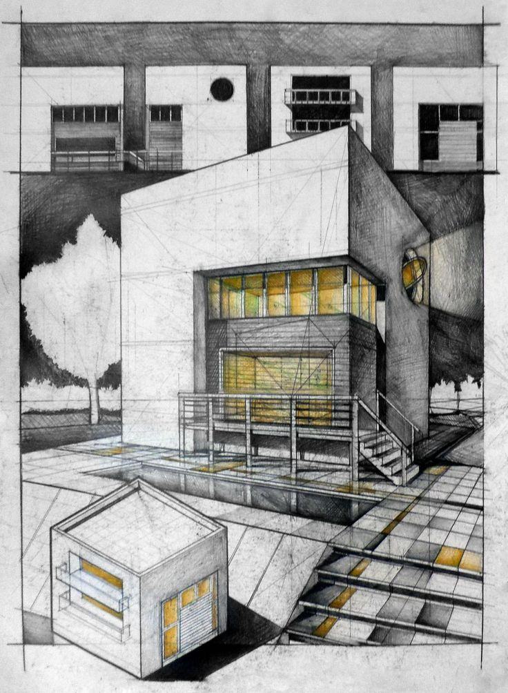 Student House Architectural drawing | ARCH-student.com