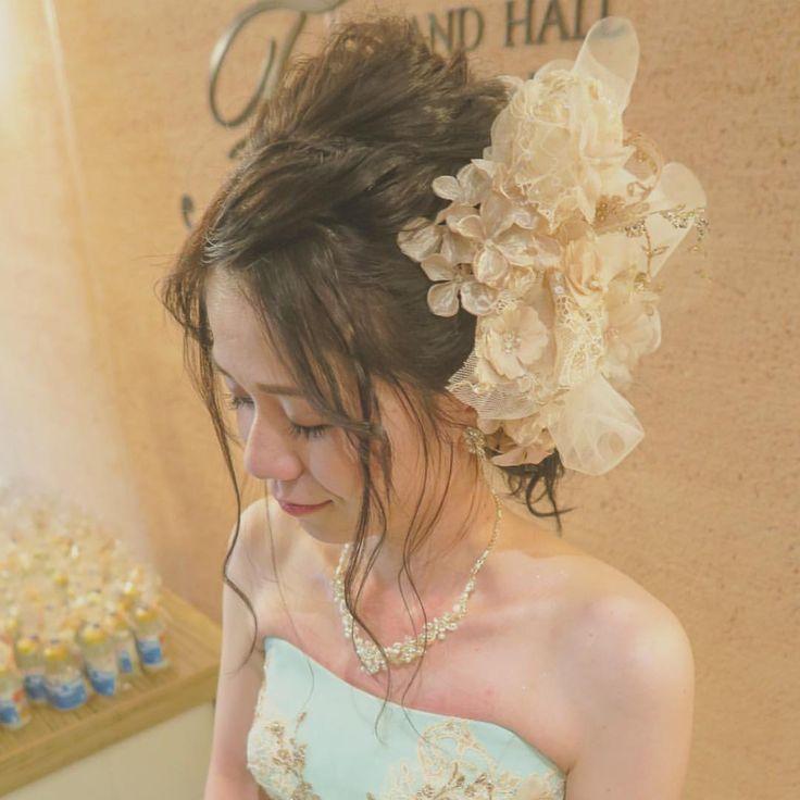 いいね!45件、コメント1件 ― @rejouir.bridal_hairのInstagramアカウント: 「. 前髪のもっていき方で印象がかわりますよね♡ 可愛かったです₊˚⋆( ´͈ ꒫ `͈ )◞ . #rejouir#rejouirhair#dress #hairstyle#hairmake…」